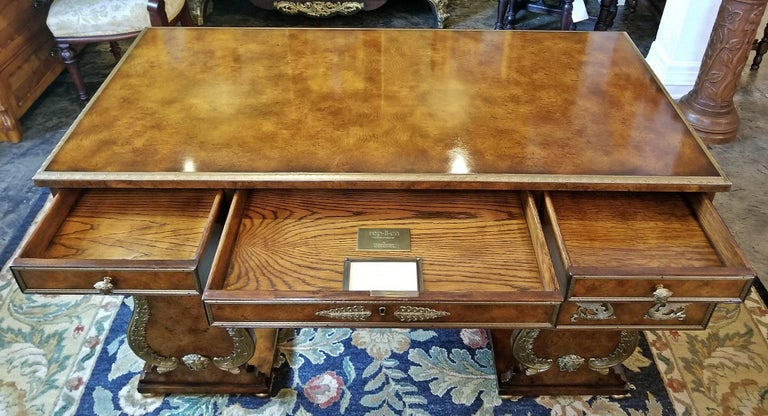 Tsar Desk Replica by Theodore Alexander For Sale 11