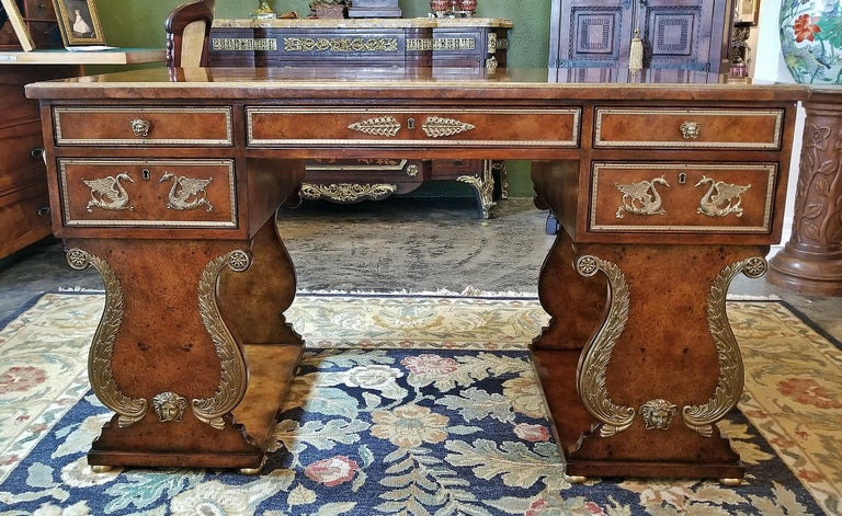 Empire Tsar Desk Replica by Theodore Alexander For Sale