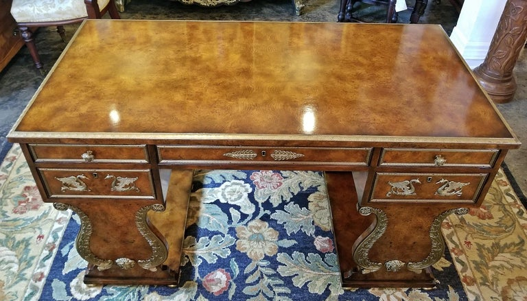 Cast Tsar Desk Replica by Theodore Alexander For Sale