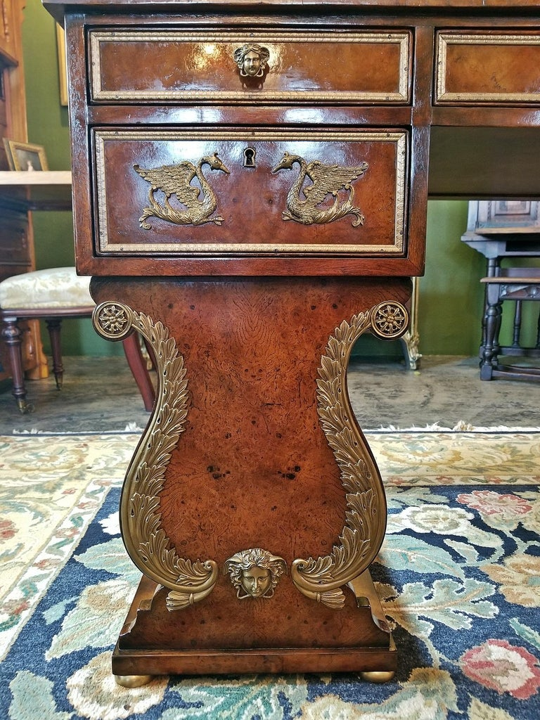 20th Century Tsar Desk Replica by Theodore Alexander For Sale
