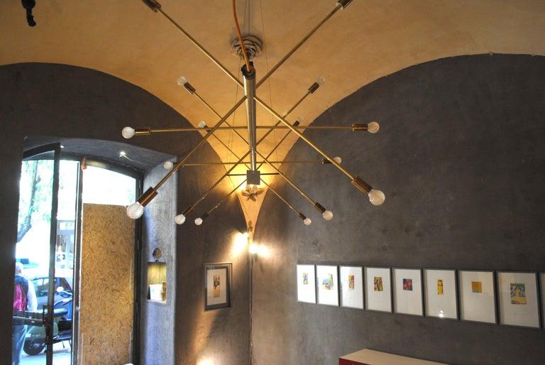 The Tube, Italian Brass Chandelier 2