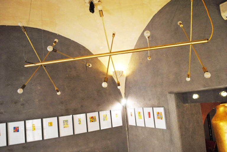The Tube, Italian Brass Chandelier 4