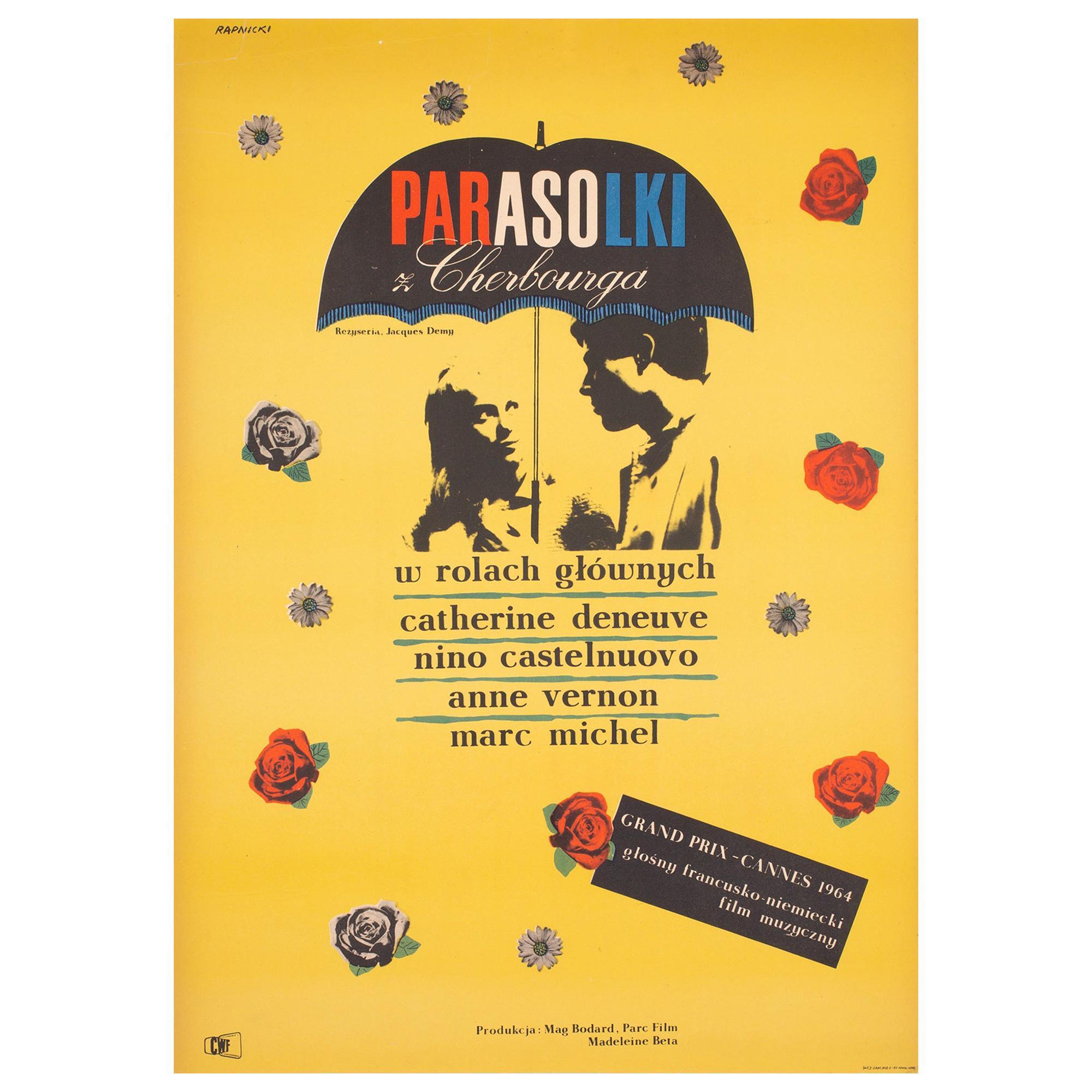 The Umbrellas of Cherbourg 1966 Polish A1 Film Poster, Rapnicki