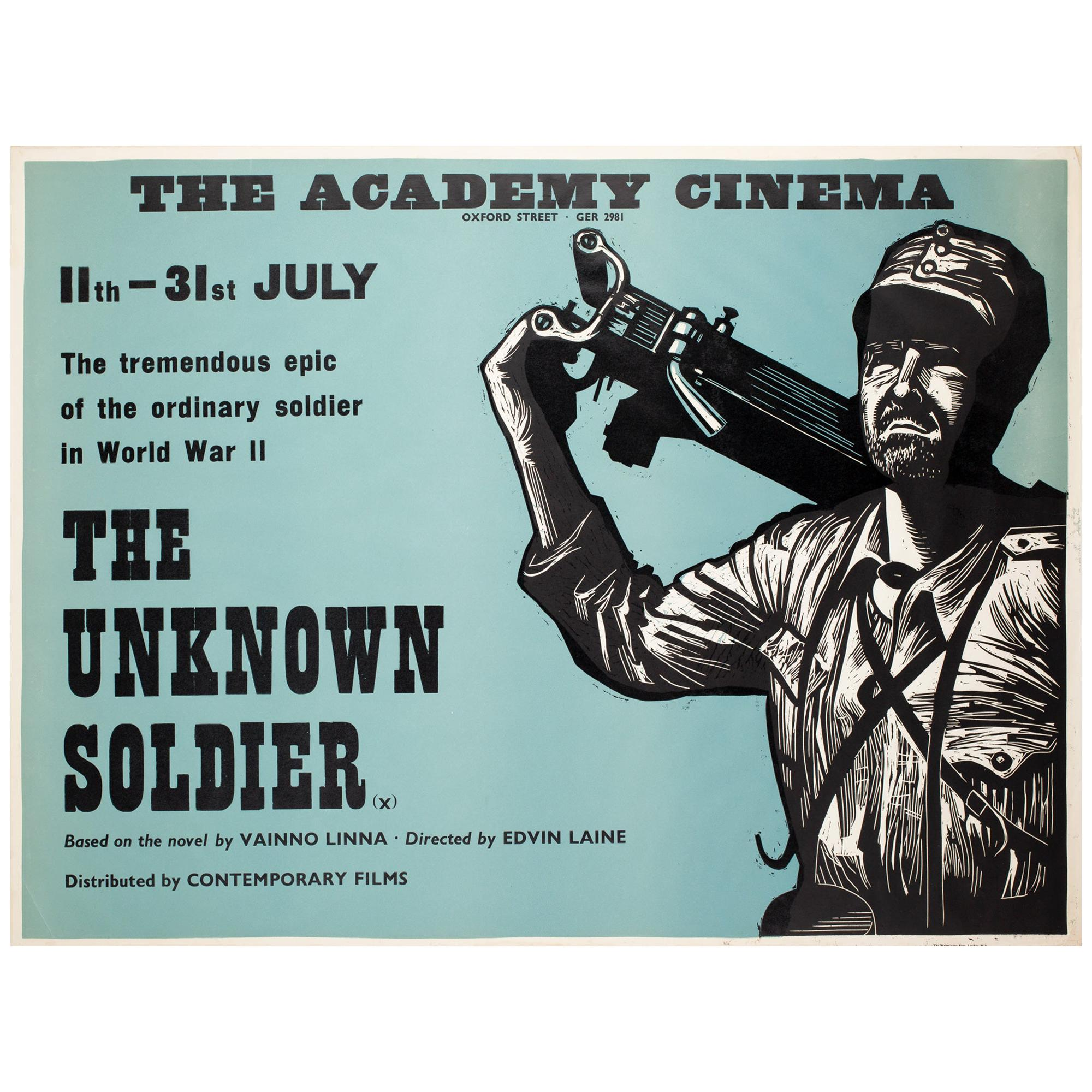 """The Unknown Soldier"", 1970s Academy Cinema UK Quad Film Poster, Strausfeld"