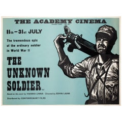 """The Unknown Soldier"", 1970s Academy Cinema UK Quad Film Poster, Strausfeld"