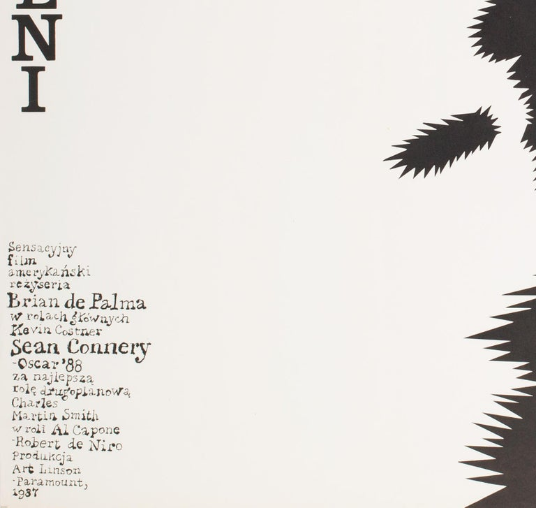 The Untouchables 1989 Polish B1 Film Poster, Wasilewski 2