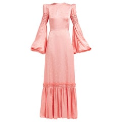 The Vampires Wife Blossom Dress Dress in Cosmo Damask Blush Pink - Size US 8