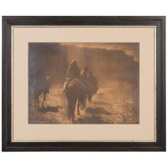The Vanishing Race, Signed by Edward S. Curtis, Gelatin Silver Photograph, 1904