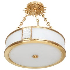 Victoire Pendant Light in Brass by David Duncan