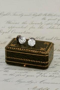 'The Victoria Earrings' 12.64Ct Old European Cut Diamond Earrings GIA Certified