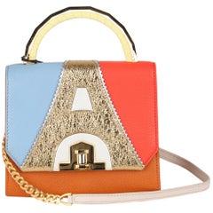 The Volon Multicolor Leather Bon Bon H Paris Small Crossbody Shoulder Bag