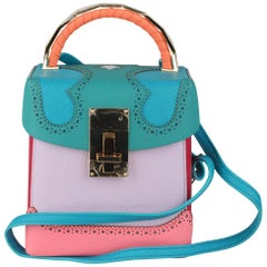 The Volon Multicolor Leather Great Lunchbox Alice Crossbody Bag