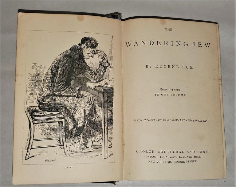 Late Victorian The Wandering Jew by Eugene Sue Complete Edition with Illustrations For Sale