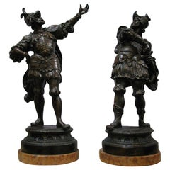 "The ""Warriors"" Bronze Sculptures Signed ""De Martino"", 19th-20th Century"