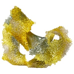 The Way it Twists, Unique Glass Sculpture in Grey & Gold by Nina Casson McGarva