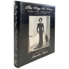 """""""The Way We Wore Styles of the 1930s and '40s"""" Book by Marsha Hunt"""