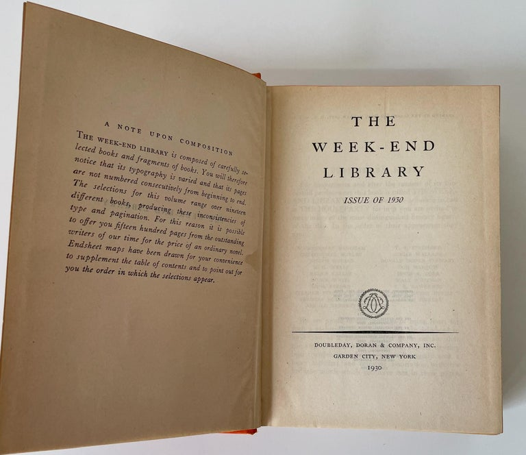 Art Deco The Week-End Library Issue of 1930 For Sale