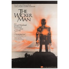 """The Wicker Man"" 1973 UK 1 Sheet Film Poster"