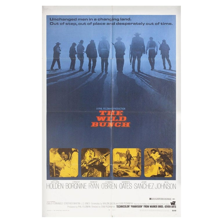 """""""The Wild Bunch"""" 1969 U.S. One Sheet Film Poster For Sale"""
