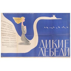 The Wild Swans 1963 Russian B1 Film Poster