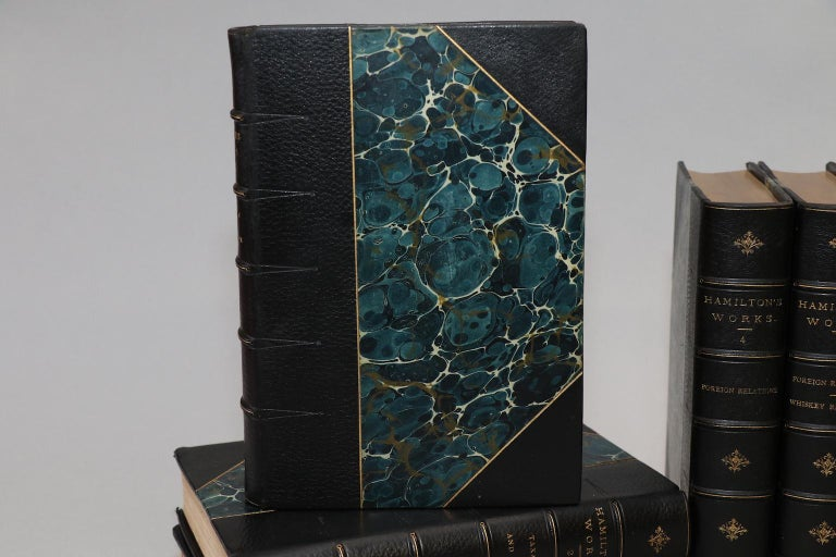 Leatherbound. 9 volumes. Limited to 500 copies, this is #28. Bound in 3/4 green Morocco with marbled boards, top edges gilt, raised bands, & gilt panels on spines. Very good. Published in New York & London by G.P. Putnam's Sons in 1886.