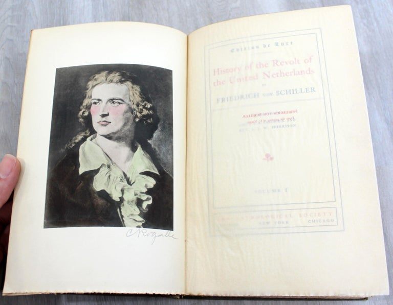 The Works of Friedrich Von Schiller Set of 8 Books 163/500 Limited Edition In Good Condition For Sale In Keego Harbor, MI