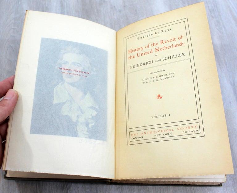 20th Century The Works of Friedrich Von Schiller Set of 8 Books 163/500 Limited Edition For Sale