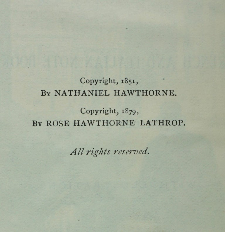 19th Century Works of Hawthorne in 10 Illustrated Gilt-Tooled Leather Bound Volumes  For Sale
