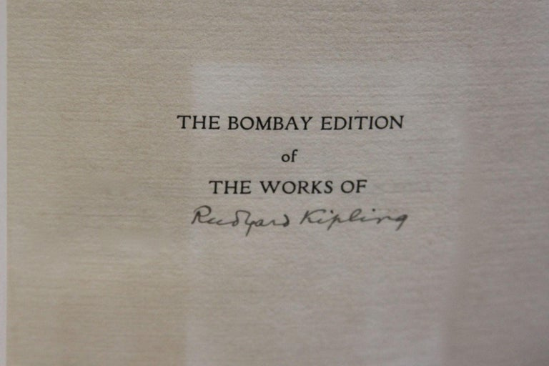 Thirty-one volumes.   First published in 25 volumes but eventually grew to 31 volumes as Kipling continued to write.   Signedby Ruyard Kipling in volume one on the front title page.   This edition consists of 1050 copies printed by R. and R