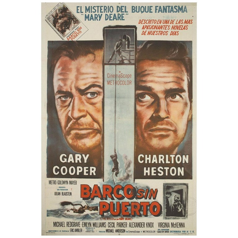 The Wreck of the Mary Deare 1959 Argentine Film Poster For Sale