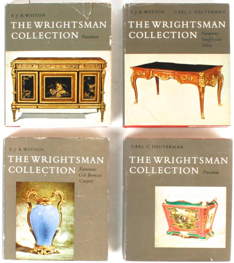 The Wrightsman collection, Vols. I-V. New York: The Metropolitan Museum of Art, 1966-1973. First edition hardcovers with dust jackets. 2248 pp. Inscribed by the Wrightsmans. The complete series of The Wrightsman collection catalogues from The