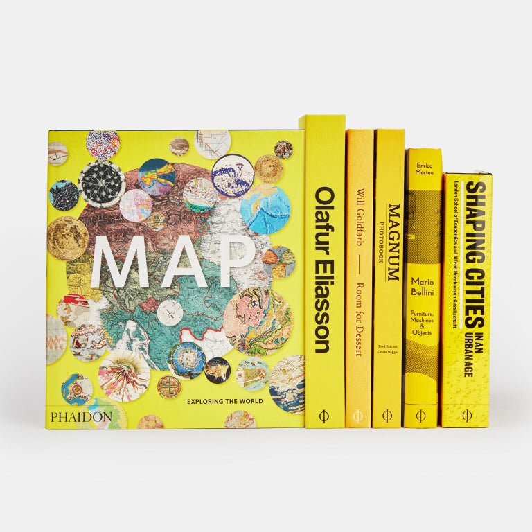 Accessorize your home with this beautifully produced collection of yellow covered books. This collection includes: Olafur Eliasson: Experience: Experience spans Eliasson's career to date via images of his installations, sculptures, paintings,