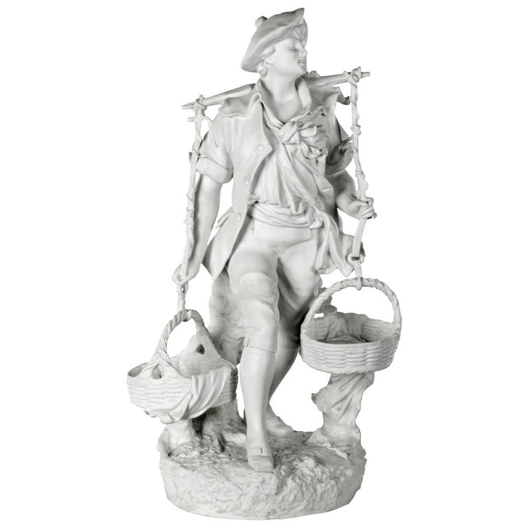 The Young Harvester Bisque Porcelain Statue by EB Quinter For Sale