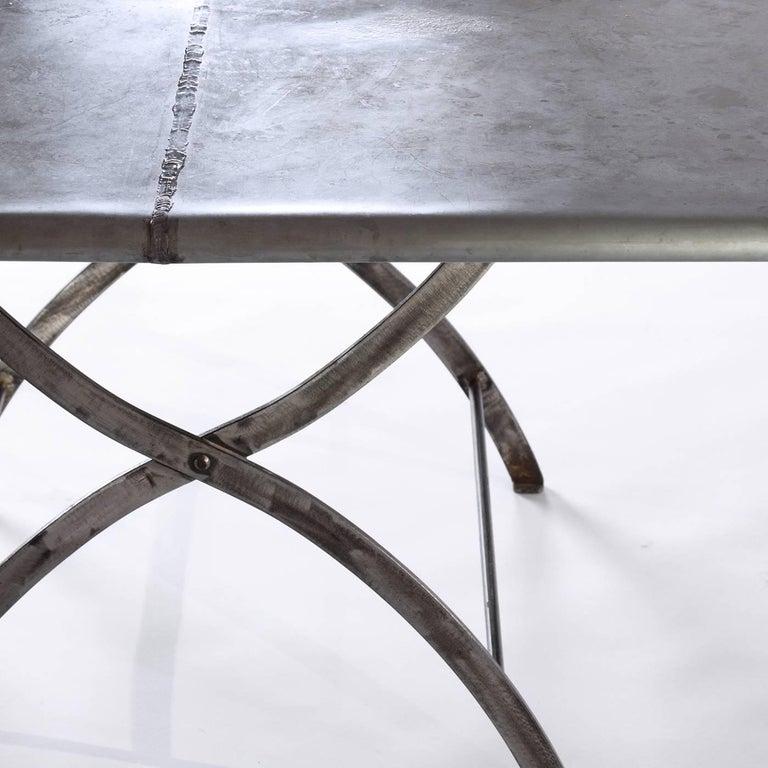 Italian Zinc Garden Table For Sale