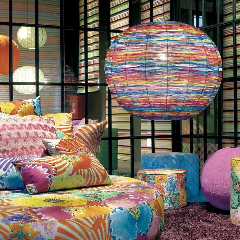 Italian Thea Kuta Multicolor Pendant Lamp by MissoniHome For Sale