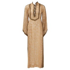 Thea Porter Embroidered Metallic Caftan, Circa 1967