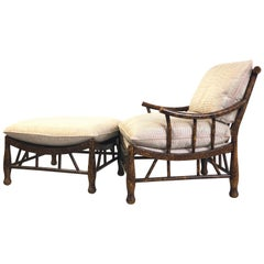 Thebes Lounge Chair and Ottoman by Pearson