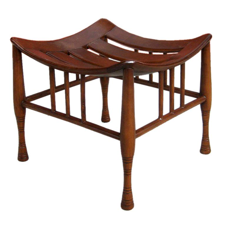 Thebes Stool attributed to Liberty & Co.-England For Sale