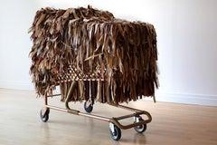 Large Sculpture: 'Lady Whistlesdown Baggage Cart'