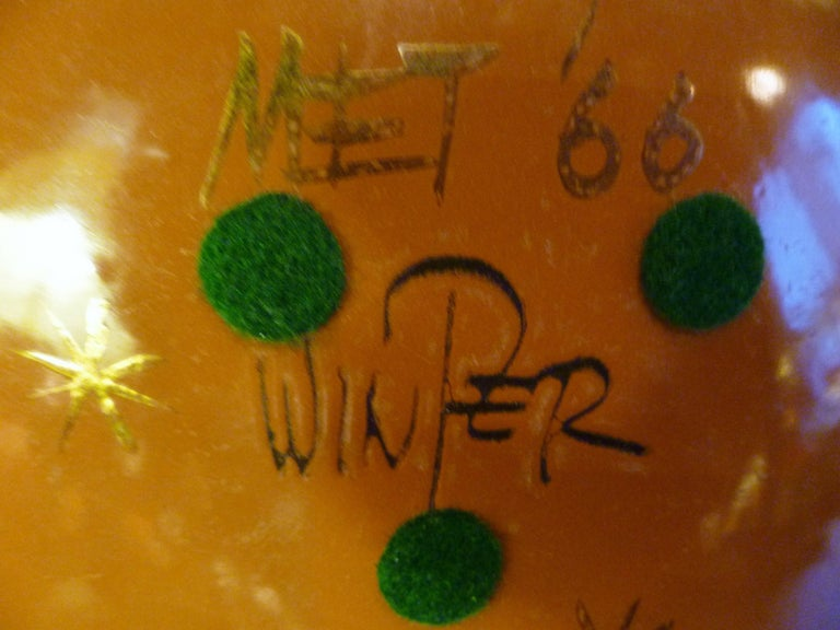 Mid-20th Century Thelma Winter Copper Enamel Celebration Plate 1966 Figaro Met Opera House NYC For Sale