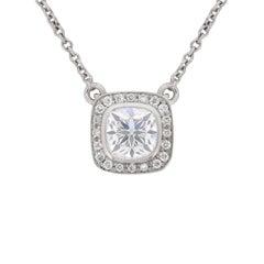 Theo Fennell 0.72 Carat Diamond Halo Pendant Necklace