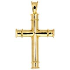 Theo Fennell 18 Carat Yellow Gold Cross Pendant, British Designer