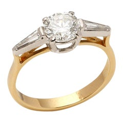 Theo Fennell 18 Karat Yellow Gold and Platinum Round Brilliant Cut Diamond Ring