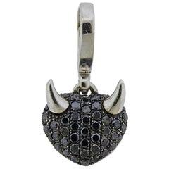 Theo Fennell Black Diamond Gold Devil Heart Pendant