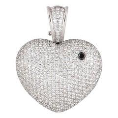 Theo Fennell Diamond Heart Art Pendant