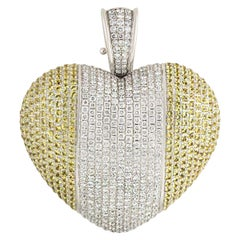 Theo Fennell White Gold Diamond and Citrine Pendant 4.58 Carat