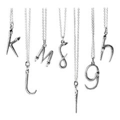 Theo Fennell Women's Alias Letter Silver Mamba Pendant Necklace