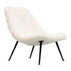 Theo Ruth 122 Lounge Chair Alpaca Wool Artifort, 1956