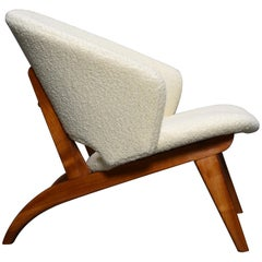 Theo Ruth Armchair in Crème Bouclé for Artifort, Netherlands, 1958