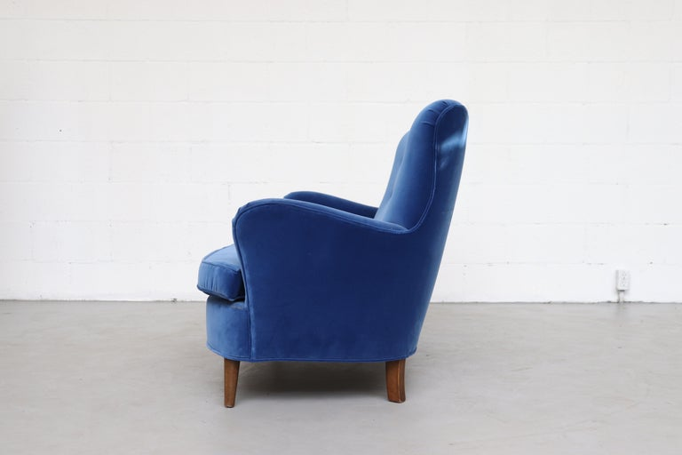Mid-Century Modern Theo Ruth Cobalt Blue Sofa by Artifort For Sale